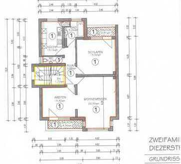3ZKB-Wohnung, EG, Balkon, Loggia, TL-Bad, sep. Toilette