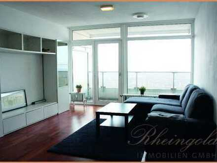 Living on top: Hoch oben mit Mittagssonne 2 Zimmerwohnung mit Balkon im Uni-Center