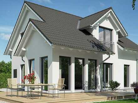 schlüsselfertig! KFW40+, Provisionsfrei!! auf 1430 m² tollem Aussichtsgrundstück - das Haas S130