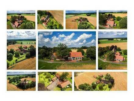Nebenhaus auf idyllischem denkmalgeschützten Artländer Hof mit großem Garten in Alleinlage