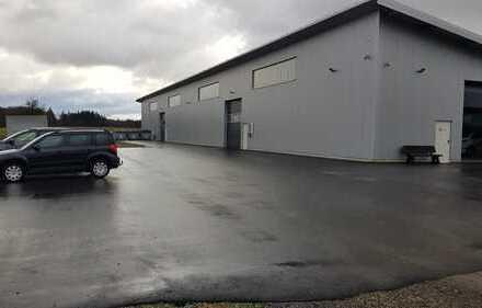 Neue gedämmte/beheizte Lager/Produktionshalle mit Büro 1000m² + 300m² überd. Aussenfl.