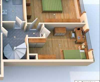 Neubau ! Moderne Maisonette-Wohnung - 2 Bäder - Süd-Terrasse - Garten