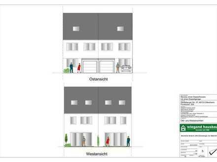 Neubau Doppelhaushälfte KfW 55 Effizienz mit Kühloption