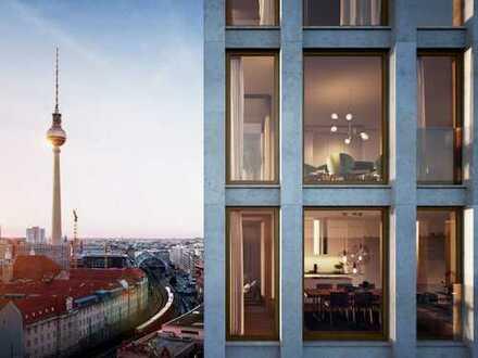 Erstbezug: Gehobene 3-Zimmer-Wohnung mit EBK, Loggia, Dachterasse, GYM und Concierge in Mitte