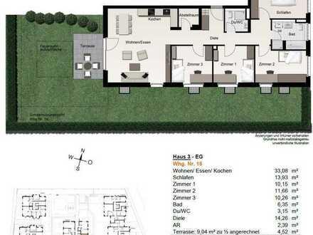Familienfreundliche 5-Zimmer-EG-Wohnung mit Einbauküche und Garten im Leonberg Zentrum