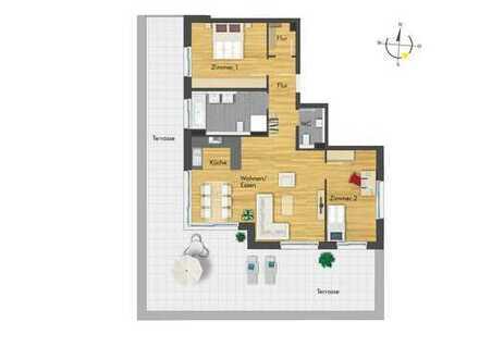 Exklusive Penthousewohnung mit phänomenaler Sonnenterrasse