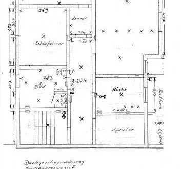 Freundliche 2-Zimmer-DG-Wohnung mit Balkon und Einbauküche in Oftersheim