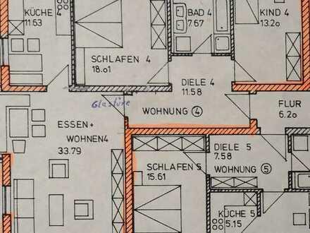 Gepflegte 3-Raum-Wohnung mit Balkon und Einbauküche in Langweid