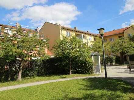 Traumhaft ruhig gelegene, helle 3-Zimmer-Wohnung im Erbbaurecht in Freimann / Nä. U6