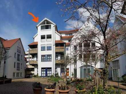 sonnige Maisonette-Wohnung im Herzen der Stadt mit Blick über die Dächer