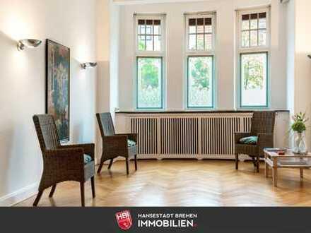 Gete / Großzügige Büro-/ Praxisfläche in gepflegten Altbremer Haus mit Balkon