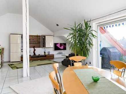 MA-Wallstadt: Maisonette-Wohnung mit großer Sonnenterrasse