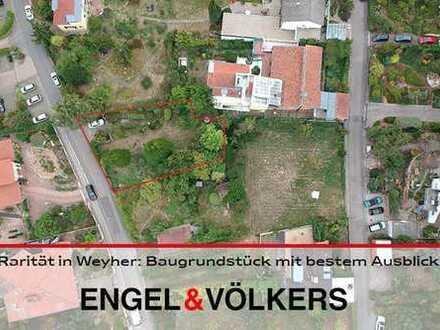 Rarität in Weyher: Baugrundstück mit bestem Ausblick!