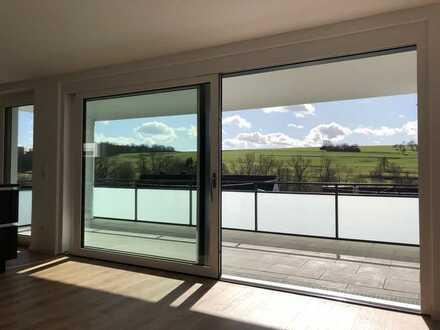 Neubau: Exklusive 3,5-Zimmer-Wohnung mit Einbauküche und großem Balkon in Aichtal-Grötzingen