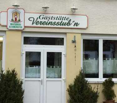 Gastwirtschaft mit 60 Plätzen, erweiterbar auf 100 Plätze nebst Biergarten