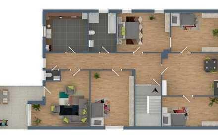 Großzügige 6 Zimmer - Eigentumswohnung mit Tageslichtbad, schöner Dachterrasse (Südseite)+Stellplatz