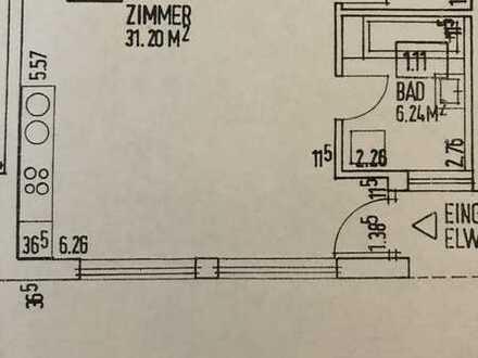 Helle, große 1-Zimmer Wohnung in Mühlingen (bei Stockach)