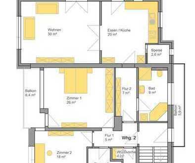 Neuwertig saniert mit Einbauküche u. Balkon: freundliche 3,5-Zimmer-Wohnung in Dingolfing BMW Nähe