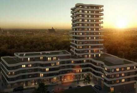 Sonnendurchflutete 2 Zimmerwohnung mit luxuriöser Ausstattung - Erstbezug im IN Tower