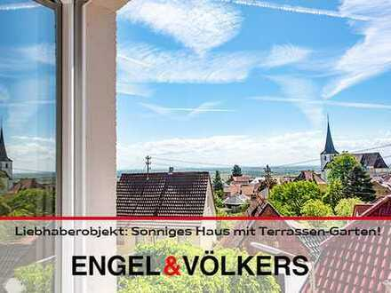 Liebhaberobjekt: Sonniges Haus in ruhiger Lage mit Terrassen-Garten!