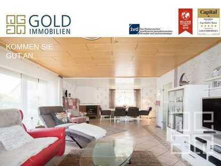 GOLD IMMOBILIEN: Vielseitiges Einfamilienhaus mit Anbau und Einliegerwohnung im beliebten Ober-Olm