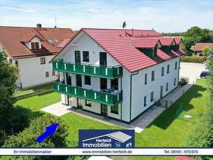 Schicke 3-Zimmer-Neubau-Wohnung mit Terrasse und Garten in ruhiger Lage!