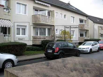 Vollständig renovierte 3,5-Zimmer-EG-Wohnung mit Balkon und EBK in Essen