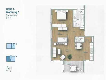 3,5-Zimmer-Wohnung - Wohnung 3 im 1.OG