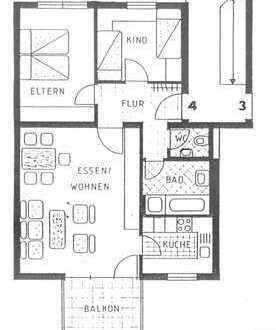 Schöne 3-Zimmer-Wohnung mit Balkon und EBK in Ludwigsburg (Kreis)