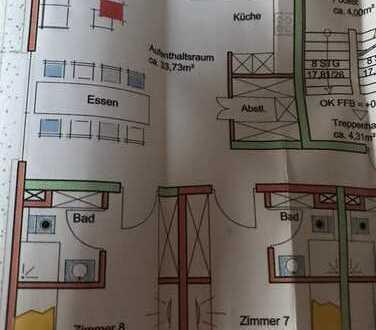 Erstbezug Mehrfamilienhaus WG Zimmer mit eigenem Bad