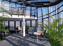 DAS Penthouse-Büro im 5.u.6. Stock des EURO CENTER Towers Arbeiten mit Rund-Um-Blick + Dachterrasse