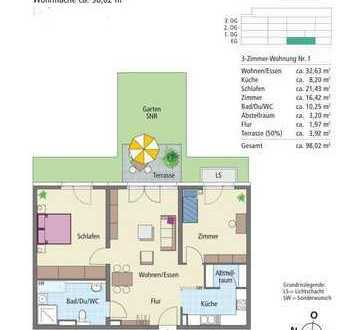 Betreutes Wohnen für Senioren, 3 Zimmer Wohnung mit Garten, Betreuung Haus zum Fels