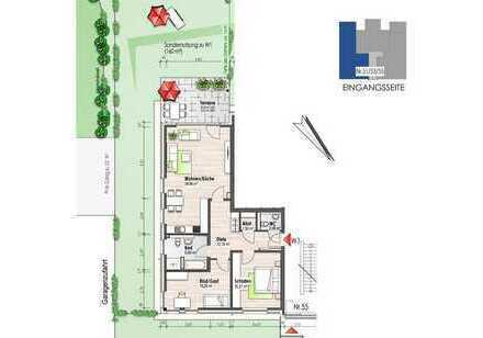 Erdgeschosswohnung mit Terrasse (Nr. 1)