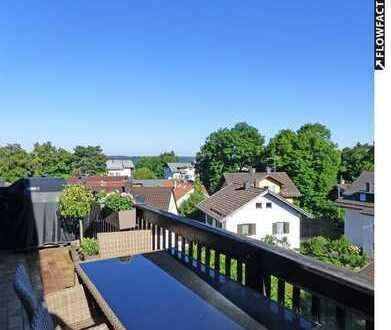 Großzügige 2-Zimmer-Dachgeschosswohnung mit fantastischem Weitblick im Herzen von Feldafing