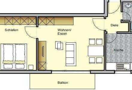 Helle und geräumige 2-Zimmer Wohnung mit Balkon und Stellplatz