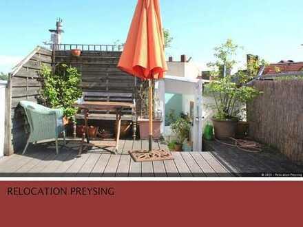 Befristet   Charmante Altbau-Maisonettewohnung mit 2 Balkonen und Dachterrasse in Haidhausen