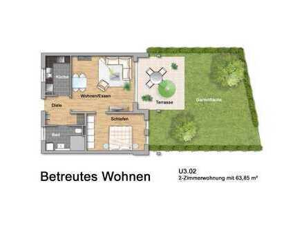 Betreutes Wohnen in Lahr: Zweizimmerwohnung mit Garten