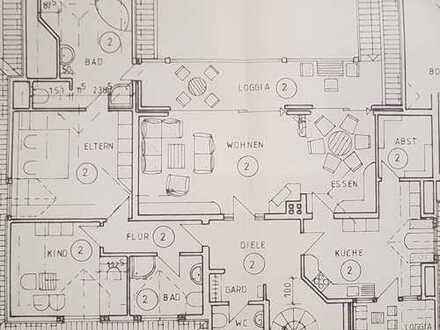 Günstige, gepflegte 5,5-Zimmer-Wohnung mit Balkon und EBK im Zweifamilienhaus in Gescher/Hochmoor