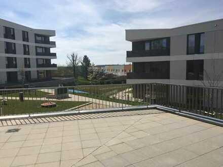 Schicke 3-Raumwohnung mit großer Terrasse Erstbezug!