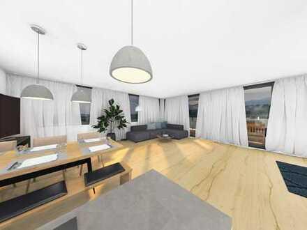73 m² große Dachterrasse