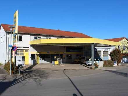 Sehr gut laufende Tankstelle mit Waschanlage, Reifenhandel und Werkstadt