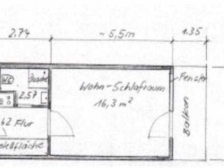 1-Zimmer-Wohnung mit Balkon & Tiefgaragenstellplatz in Heidelberg