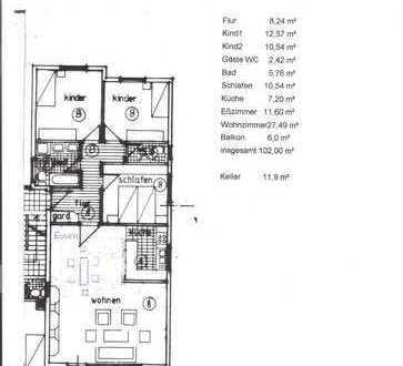 Schöne 4 1/2 Zimmer Wohnung in Filderstadt /Kreis Esslingen