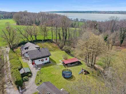 Grundstück mit Altbaubestand in traumhafter Lage in Inning am Ammersee - 500m zum See