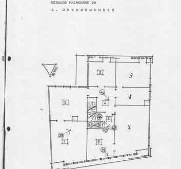 Individuelle fünf Zimmer Altbauwohnung in Wertheim Altstadt