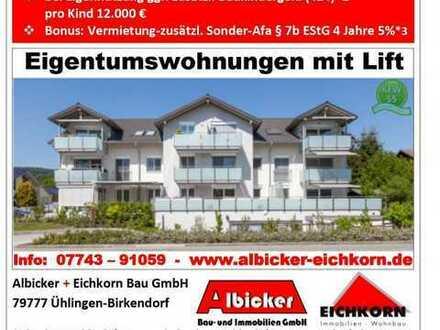 Neubau 9 Familienhaus Stühlingen- 4 Zimmerwohnung Obergeschoss
