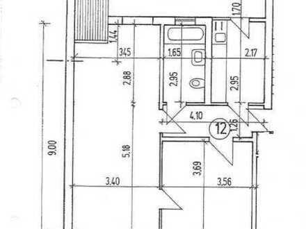 Gepflegte 2-Zimmer-DG-Wohnung mit Balkon und Einbauküche in Karlsruhe