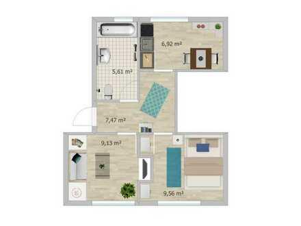 2 Zi. DG-Wohnung in zentraler Lage in Karlsruhe, neu saniert