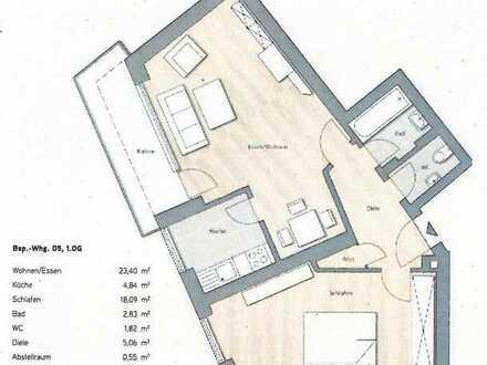 2,5-Wohnung mit Balkon und Einbauküche in Neusäß