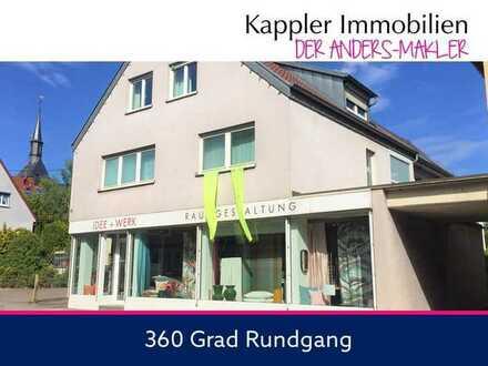 Wohn- und Geschäftshaus (267 m²), Ladenlokal (185 m²) und Bauplatz (323 m²) I Kappler Immobilien